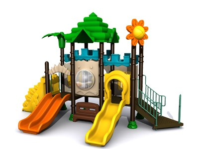 Factory innovate garden children play plastic plastic playground TQ-ZR160-1